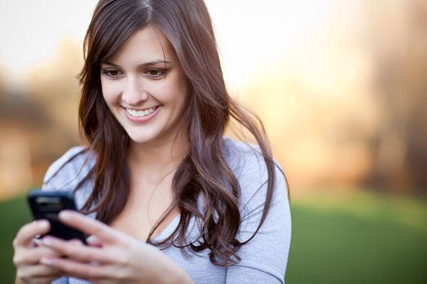 Woman Texting Ex